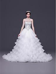 A-line,Princess Chapel Train Wedding Dress -Sweetheart Tulle