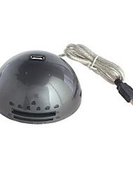 prise d'extension du casque DTECH dt-4013 avec hub USB 2.0 480Mbps noir