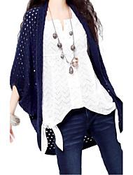 Women's Casual Bat Sleeve Wool Cardigan