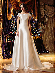 Lanting Bride® A-line / Princess Petite / Plus Sizes Wedding Dress - Classic & Timeless / Elegant & Luxurious / Glamorous & DramaticCourt