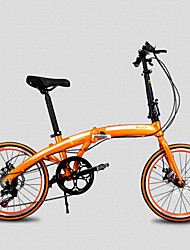 "20""Folding Mini Bicycle 7 Speeds SHIMONO KJ™ 30 Spokes Wheel Disc Break City Bike Aluminium Alloy Frame"