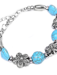 Coway Mixed Precious Stones Inlaid Manual Turquoise Bracelet