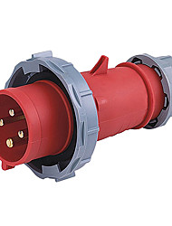 HENNEPPS HN282 Waterproof Industrial Connector Male Industrial Plug CE 400V 50A 3P+E IP44 6H 1.5-2.5mm²