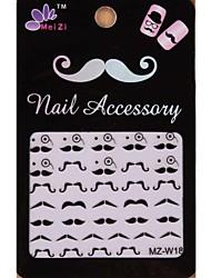 1PCS Cartoon Mustache Style Nail Art Stickers MZ Series MZ-W18