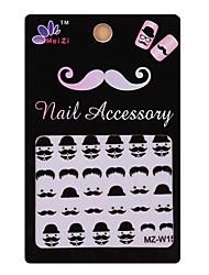 1PCS Cartoon Mustache Style Nail Art Stickers MZ Series MZ-W14