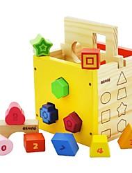 benho forma madeira de pinho brinquedo educação puzzle de madeira caixa de triagem 12m +