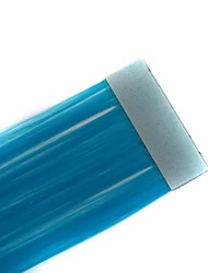 Long Straight Tapes Synthetic Extension 2 Pcs Sky Blue