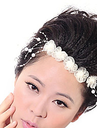 The bride can be arbitrarily curved flower ornaments