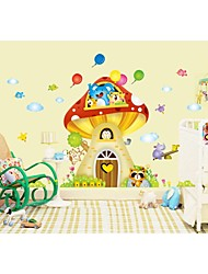 Wall Stickers Wall Decals, Style Cartoon Tree House PVC Wall Stickers
