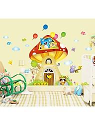 decalques de parede adesivos de parede, parede estilo dos desenhos animados árvore casa pvc adesivos