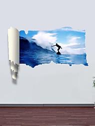 3d Stickers muraux stickers muraux, surf décor vinyle stickers muraux
