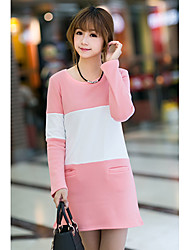 Amanda Women's Fashion Korea Style Thermal Splice Dress