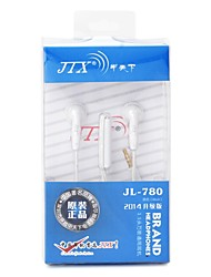 JTX JL780 3.5mm Flat Cable Stylish In-Ear Earphones with Microphone for iPhone6 / iPhone 6 Plus