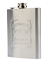 Stainless Steel Flask Outdoor Garrafa de bolso para Liquor Whiskey