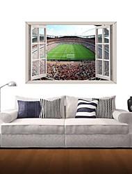Adesivos de parede adesivos de parede 3d, parede de futebol de campo decoração adesivos de vinil
