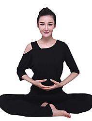 Mujer Yoga Trajes Medias mangas Amarillo / Rojo / Negro Yoga M / L / XL