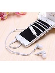 mc-25 bonbons de style nouilles double-couleur dans l'oreille headphoness pour iPhone et autres (couleurs assorties)