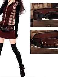 Women's Vintage Leather Fashion Waist Belt