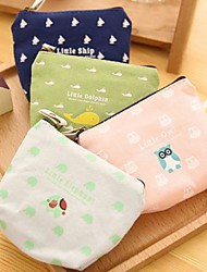Gawk Animals Printed Cotton And Linen Change Purse(1 PCS Random Color)