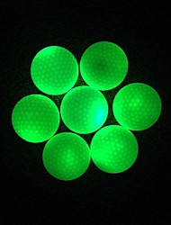 1 Piece White Cover Green Led Light Dupont Suryln/Rubber Night Time Training Light Up Golf Ball