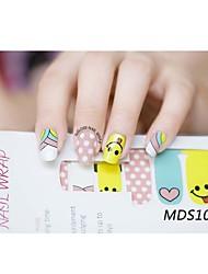 14pcs cartoon warme kleur nail art stickers mds1005