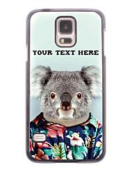 personalisierte Telefonkasten - Koala Design-Metallgehäuse für Samsung Galaxy S5 i9600