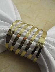 rond de serviette en métal, fer, 1,77 pouces, un ensemble de 100