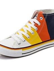 DONNE - Sneakers alla moda - Comfort/Punta tonda - Tacco basso Tela - Giallo/Arancione