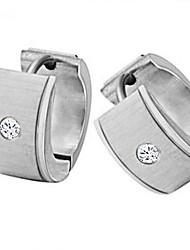 Women's Bright Flash Diamond Titanium Steel Earrings