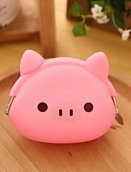 rosa modello del maiale cambiamento silicone borsa