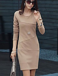 Women's Round Collar Fashion Elegant Dresses (More Colors)