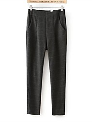 Women's High Waisted British Grid Leisure Pants
