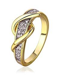 Ronde environnementale plaqué anneau bande de diamant 18 k d'or