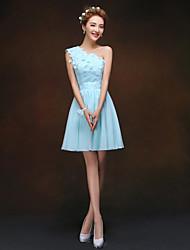A-line/Princess One Shoulder Knee-length Bridesmaid Dress