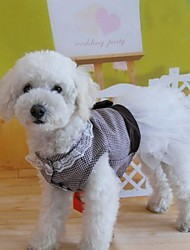 Dresses for Dogs Brown Summer XS / S / M / L Cotton