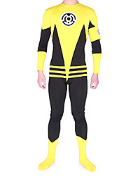 Black and Yellow Mixed Color Spandex Superhero Zentai