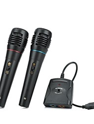 5-in-1 Wired Karaoke Microphone Set for PS3 / PS2 / PC / Wii / Xbox 360 (Black,2 PCS)
