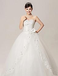 Ball Gown Wedding Dress - White Floor-length Sweetheart
