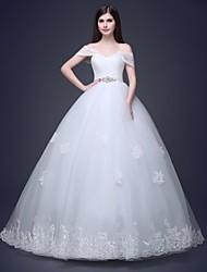 Ball Gown Floor-length Wedding Dress -Sweetheart Satin