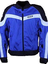 Motoboy Men's Air Flow Ventilated Motorcycle Contrast Color Mesh Jacket with Relfective Piping and CE Protectors