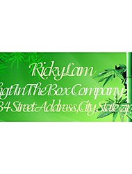 Personalized Gift Tags / Address Labels Bamboo Pattern Green Film Paper