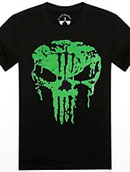 Men's O-Neck Summer Green Skeleton Man 3D Printed Short Sleeve T-shirt