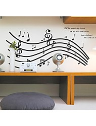 muurstickers muur stickers, stijl muziek muziek symbool pvc muurstickers
