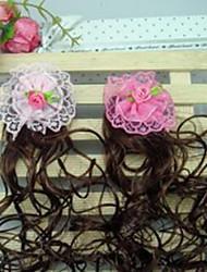 Girl's Pretty Flower Wig Hair Clip(Random Color)