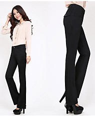 Women's Casual Suit Pants , Polyester Micro-elastic