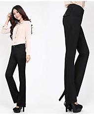 primavera y verano pantalones para mujeres cultivan su moralidad pantalones negros de contrabando pantalones cintura alta. 13tg1022