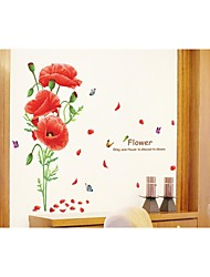Wall Stickers Wall Decals, Style Woman Flower PVC Wall Stickers