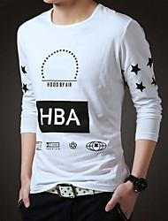 europeo impresión de la manera estilo de la camiseta de los hombres