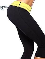 Shaperdiva Women's Stretch Neoprene Slimming Sports Pants Slim Thong Bodysuit