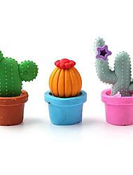 escuela de lujo borrador lindo cactus estudiante papelería de goma (juego de 3)